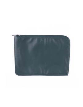L Zip Pouch Dark Green
