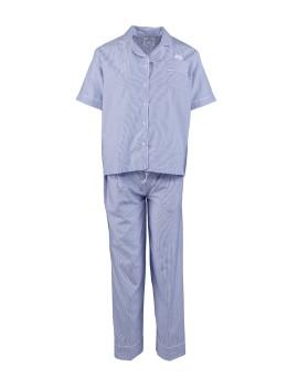 Classic PJ Set (Short Sleeve + Long Pants) Oxford Stripes