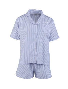 Classic PJ Set (Short Sleeve + Shorts) Sky Stripe