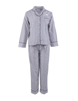 Classic PJ Set (Long Sleeve + Long Pants) Grey Stripe