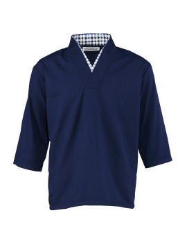 Arashi Top Navy Blue 7/8 Sleeve