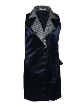 Valerie Vest Dress Black