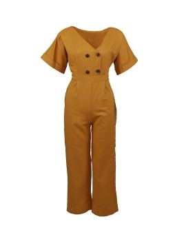 Milly Jumpsuit Mustard