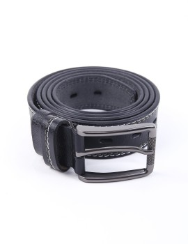 Fonbelt Leather Line White Black 641