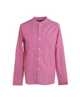 Band Collar Shirt Red