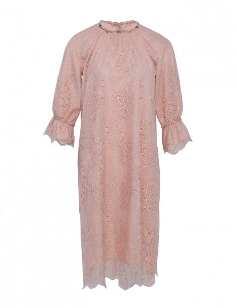 Frill Dress Peach
