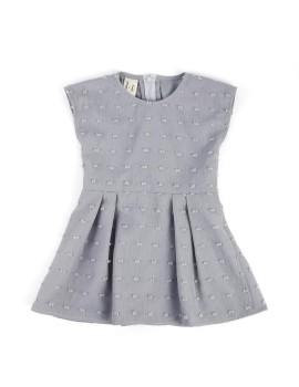 Pleats Dress Grey (3-4 y.o)