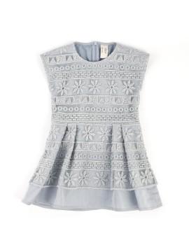 Pleats Dress Green (3-4 y.o)