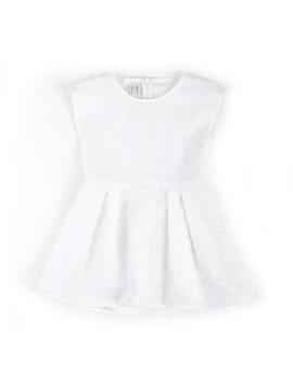 Pleats Dress White (3-4 y.o)