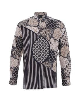 Kemeja Batik Sekar Jagad Kombinasi