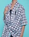 Yoora Outer List White Blue