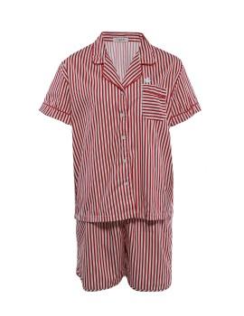 PJ Basic Short Pants Stripe Red