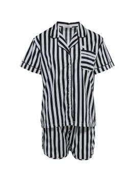PJ Basic Short Pants Big Stripe Black
