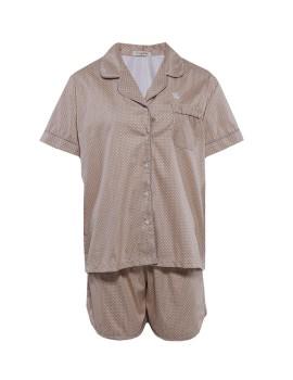 PJ Basic Short Pants Dots Beige