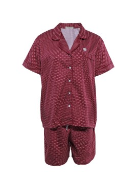 PJ Basic Short Pants Dots Wine