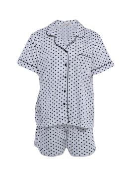 PJ Basic Short Pants Dots White