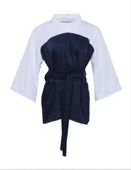 Haruka - Navy Blue/White Top