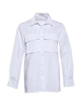 MS 1303 White Shirt Long Sleeve