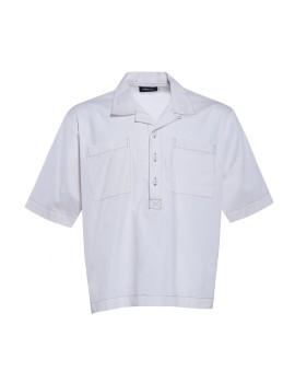 Contrast Stitching Boxy Shirt