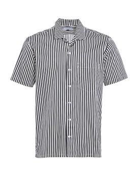 Camp Collar Short Shirt Black