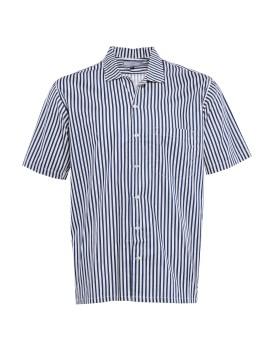 Camp Collar Short Shirt Navy