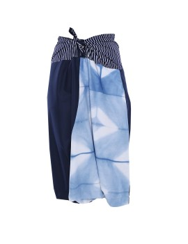 Ikat Pants Cotton Blue A