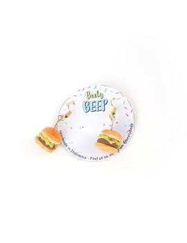 High Cholesterol Burger Earrings