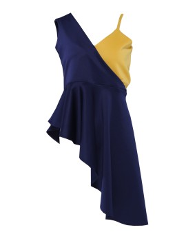 Aya Top Navy/Mustard