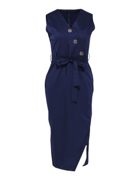 Alexa Dress Navy Blue