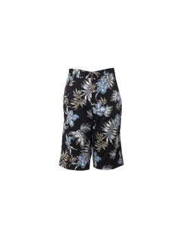 Black Floral Chino