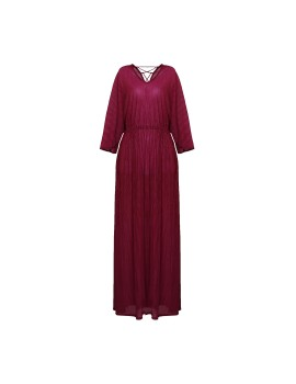 Long Dress Vaganza Burgundy