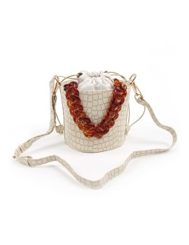 Anna Croco Bag Beige