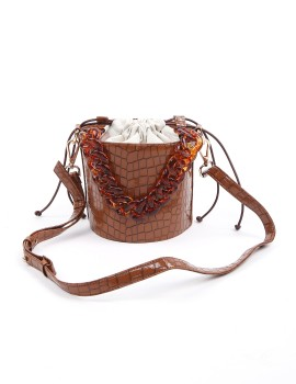 Anna Croco Bag Brown