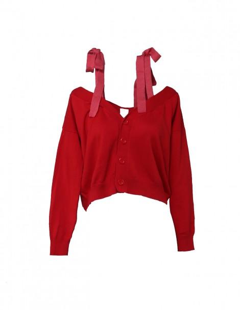 Ella Cardigan Red