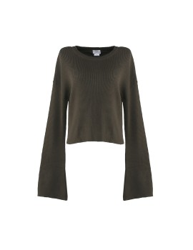 Ella Cropped Sweater Olive