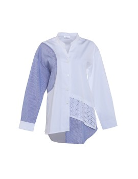 Chloe Shirt White & Blue
