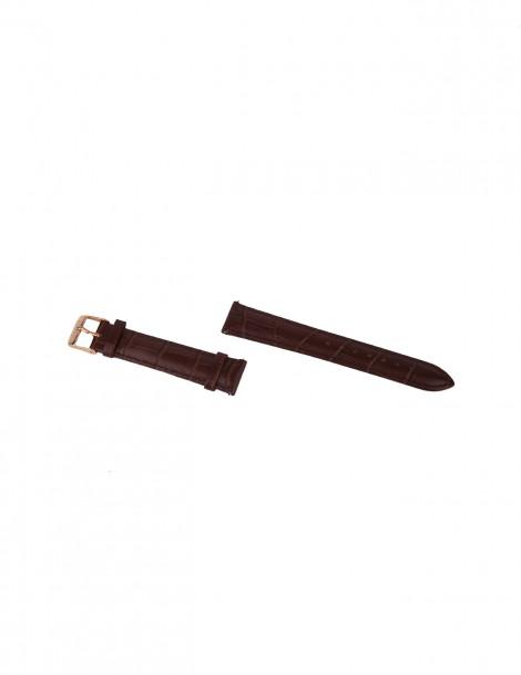 Interchangeable Brown Croco Strap size 18