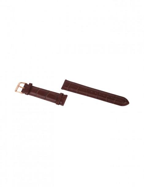 Interchangeable Brown Croco Strap size 20