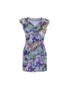 Fara Playsuit Blue Purple flower