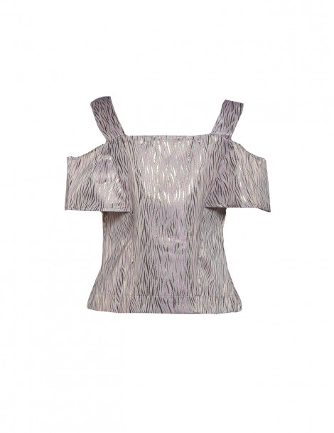Chriselle Top Abstract Pastel Pink