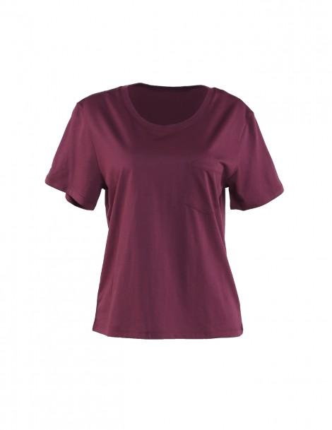 Ultrasoft Supima Box Tee T-shirt Maroon