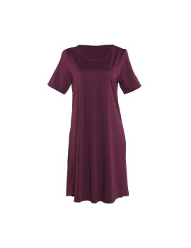 Ultrasoft Comfy Dress Maroon