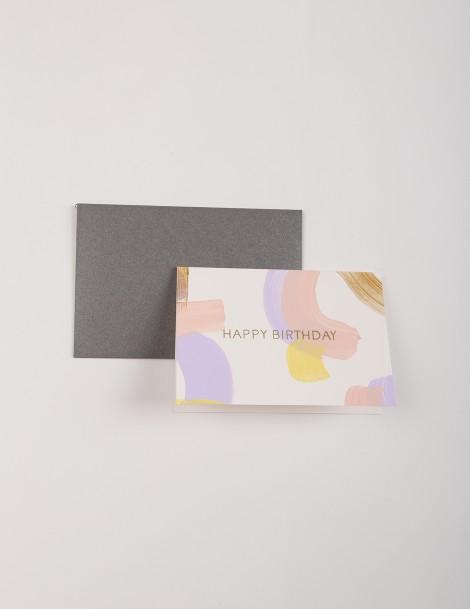 Happy Birthday Handpainted - Lavender