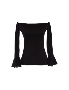 Clio Off Shoulder Top Black