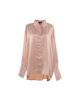 Gail Satin Cuff Blouse Pink