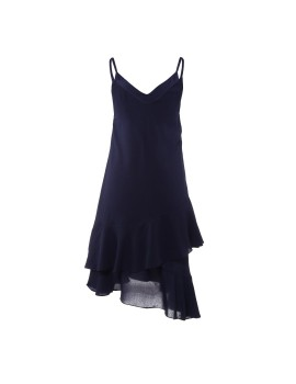 Sora Flare Slip Dress Navy