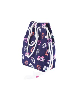 Floral Summer Bag Navy blue
