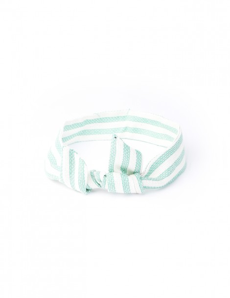 Green Stripe Green and White