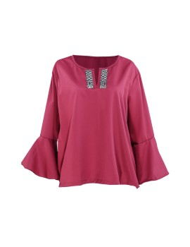 Trumpet Top in Red