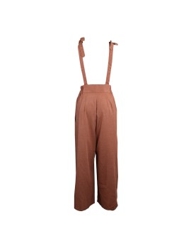 Knot Jumpsuit in Brick Brown